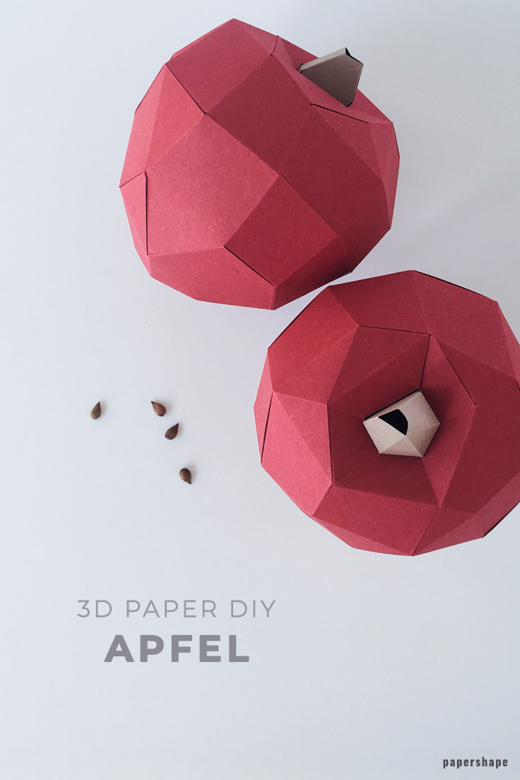 DIY Äpfel aus Papier als Herbstdeko basteln (kostenlose Vorlage ...