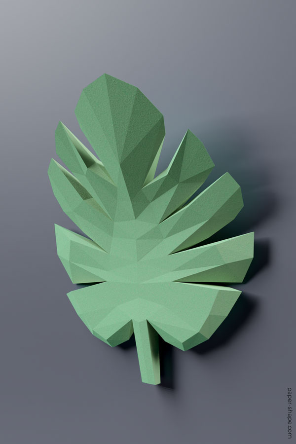 How to make a paper monstera #papercraft #diy #monstera