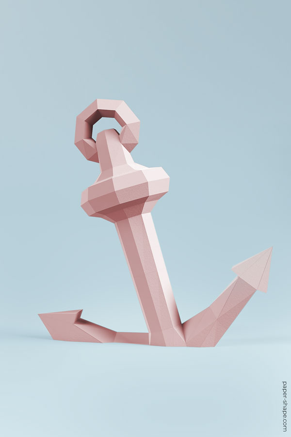 How to make a paper anchor #papercraft #diy #hochzeitsdeko