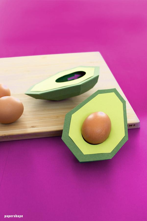 Witzig Tischdeko Avocado Eierhalter Basteln Aus Papier