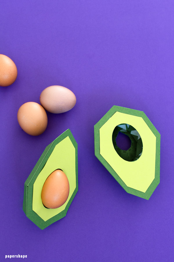 diy Easter nest from paper as avocado
