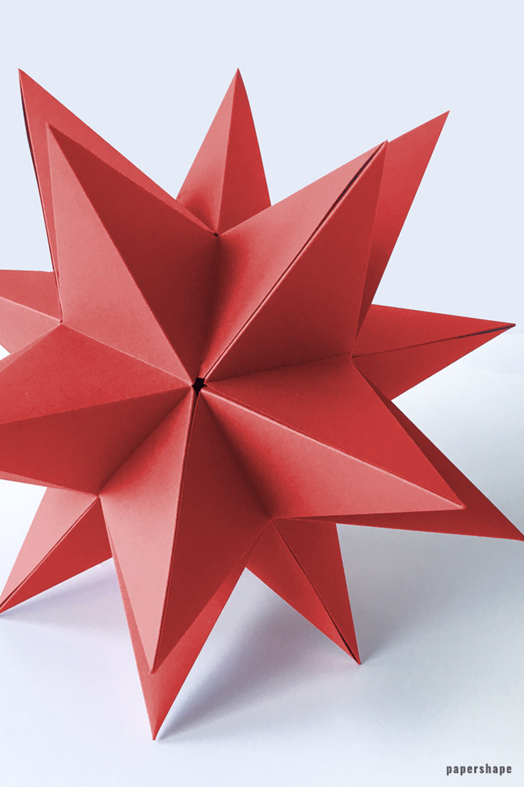 DIY 3d Paper Star For Christmas With Template Papershape