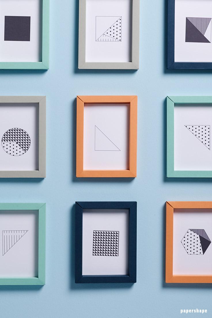3d bilderrahmen basteln aus papier ganz ohne kleben (vorlage