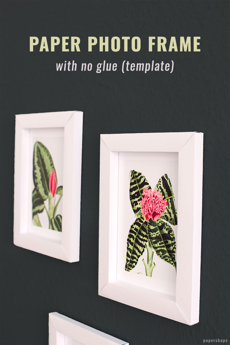 3d photo frames from paper. Cute DIY idea for your walls. or use them as gift tags. #papershape