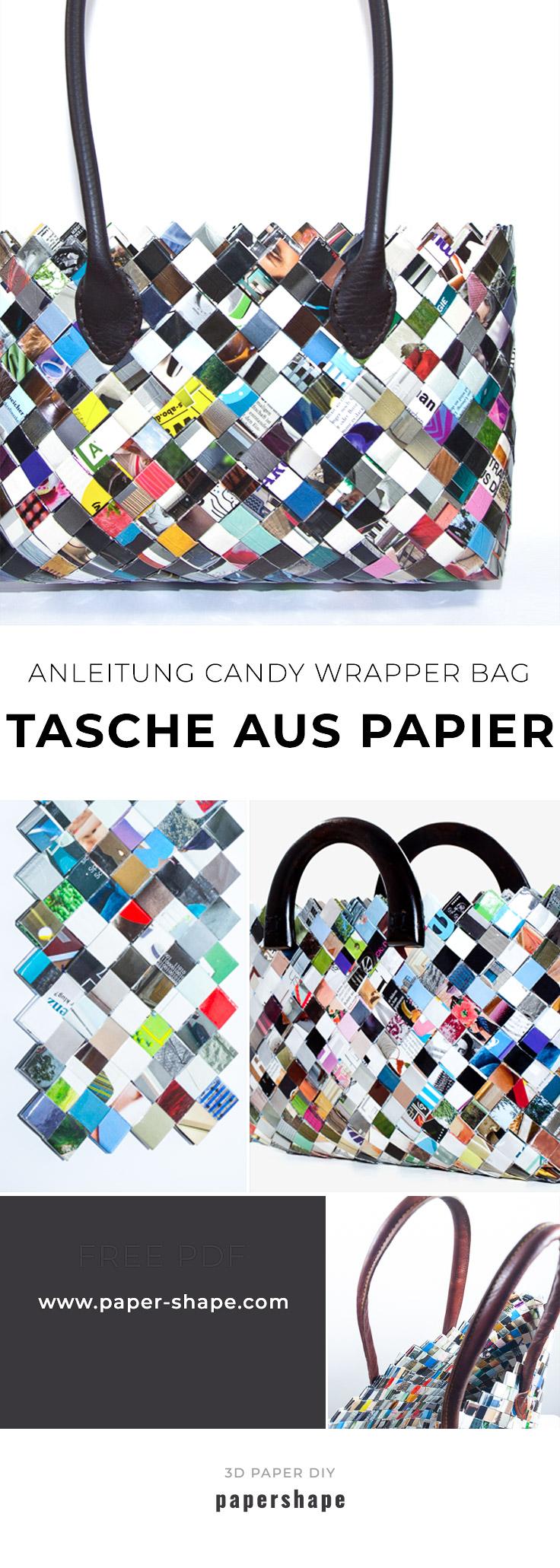 Taschen Selber Machen Aus Zeitschriften Candy Wrapper Bag Papershape