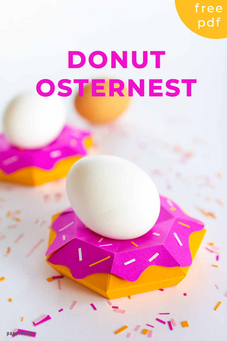 Cute Donut Easternest from paper #easter #papercraft
