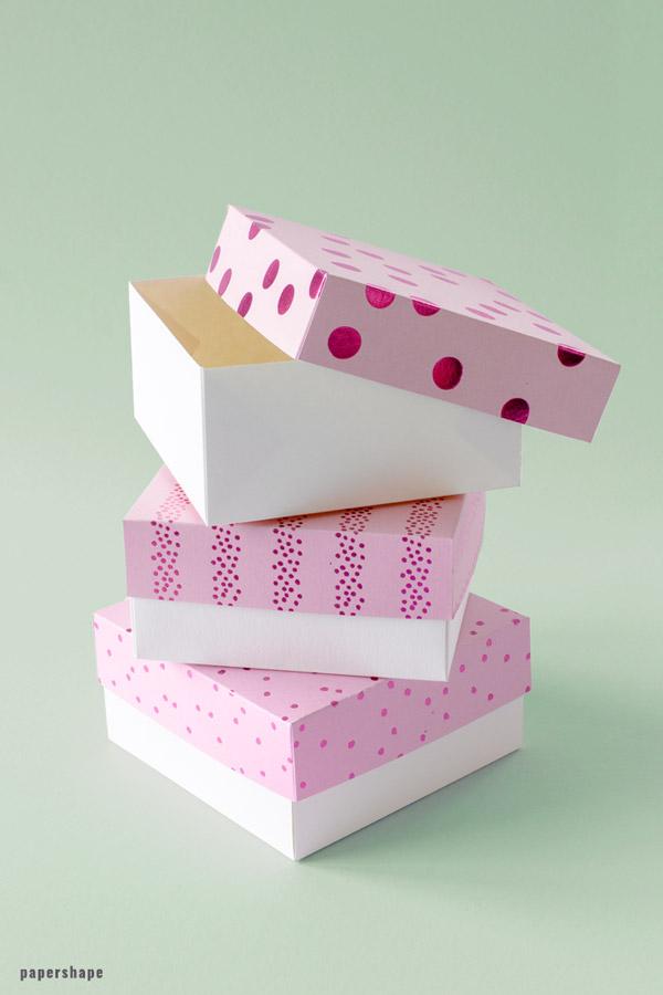 Super Stabile Geschenkbox basteln [Vorlage] - Papershape TY82