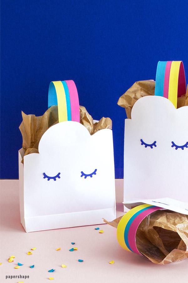Favorit Lustige Geschenktüte basteln zum Kindergeburstag (mit Vorlage NI93