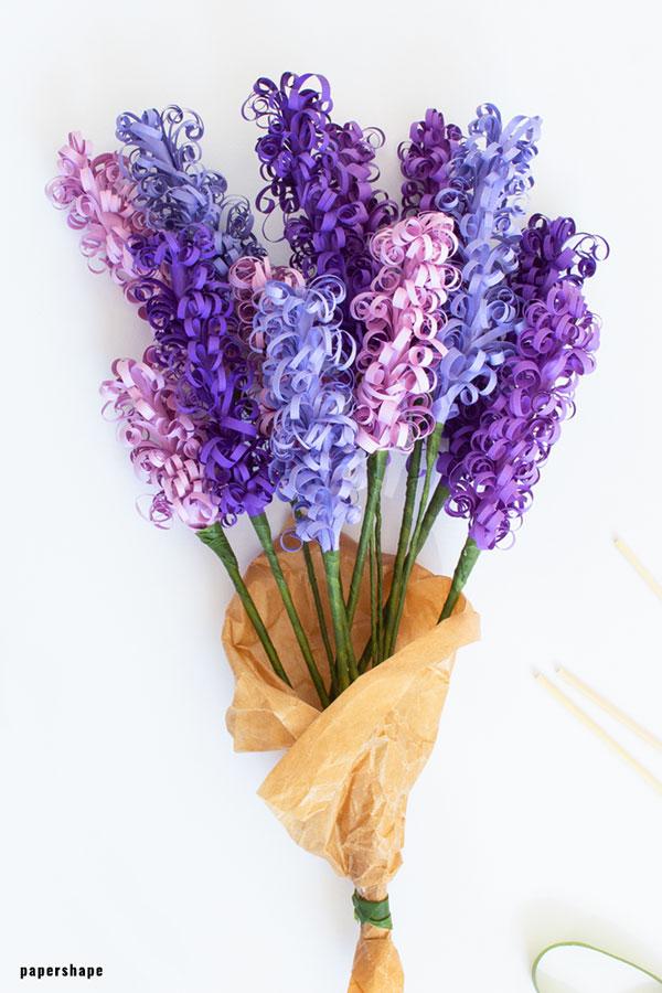 Weihnachtsbasteln Papier.Hyazinthen Basteln Diy Blumen Für Den Frühling Aus Papier Papershape
