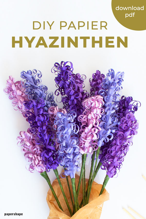 How to make hyacinth paper flowers #papercraft #paperflowers #hyacinth
