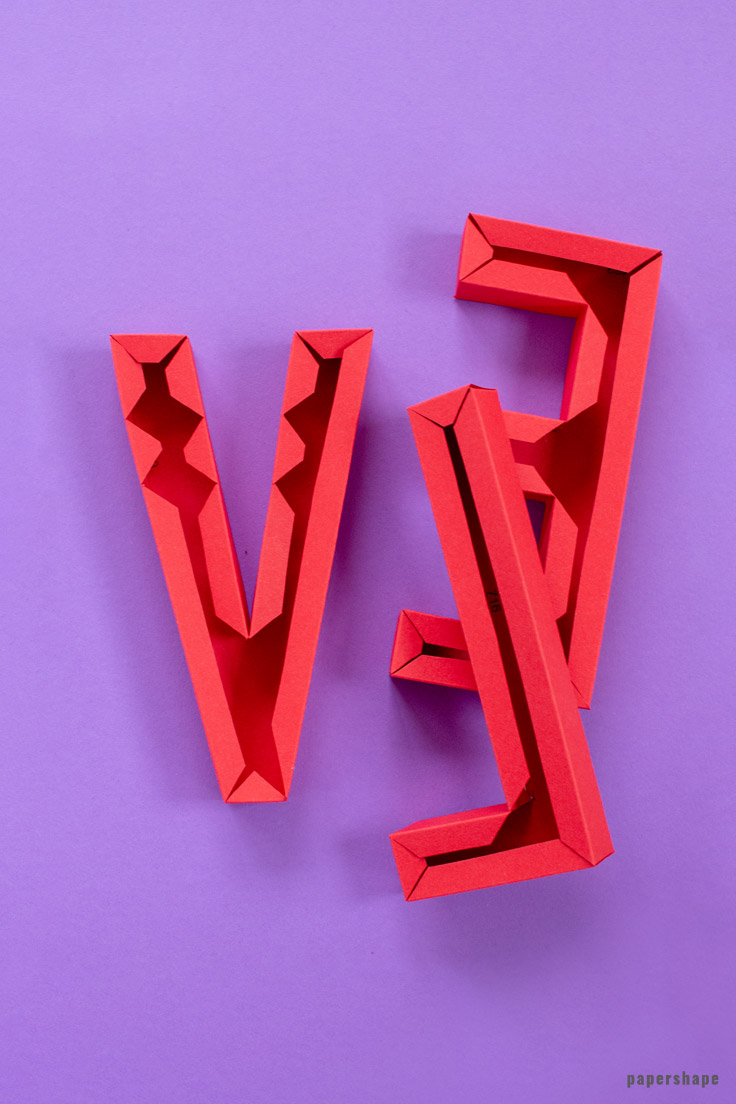 Papercraft this modern 3d lettering love for mothers day