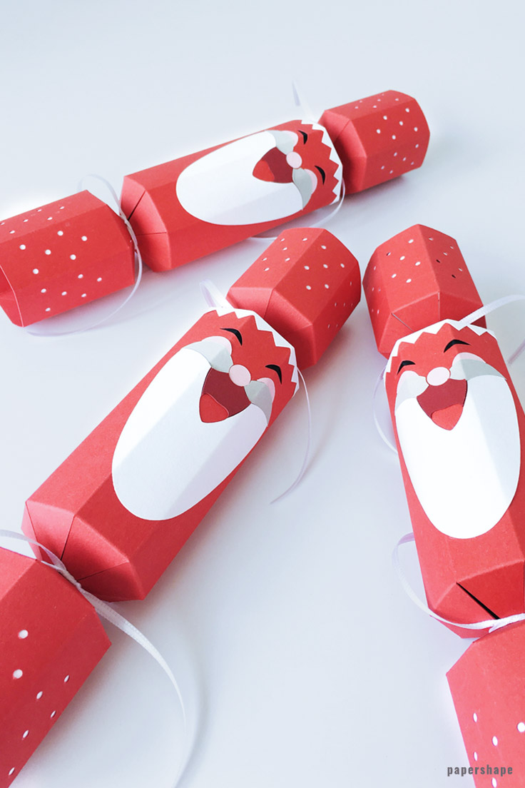 How To Make A Diy Christmas Cracker As Laughing Santa Clause Free Template Papershape