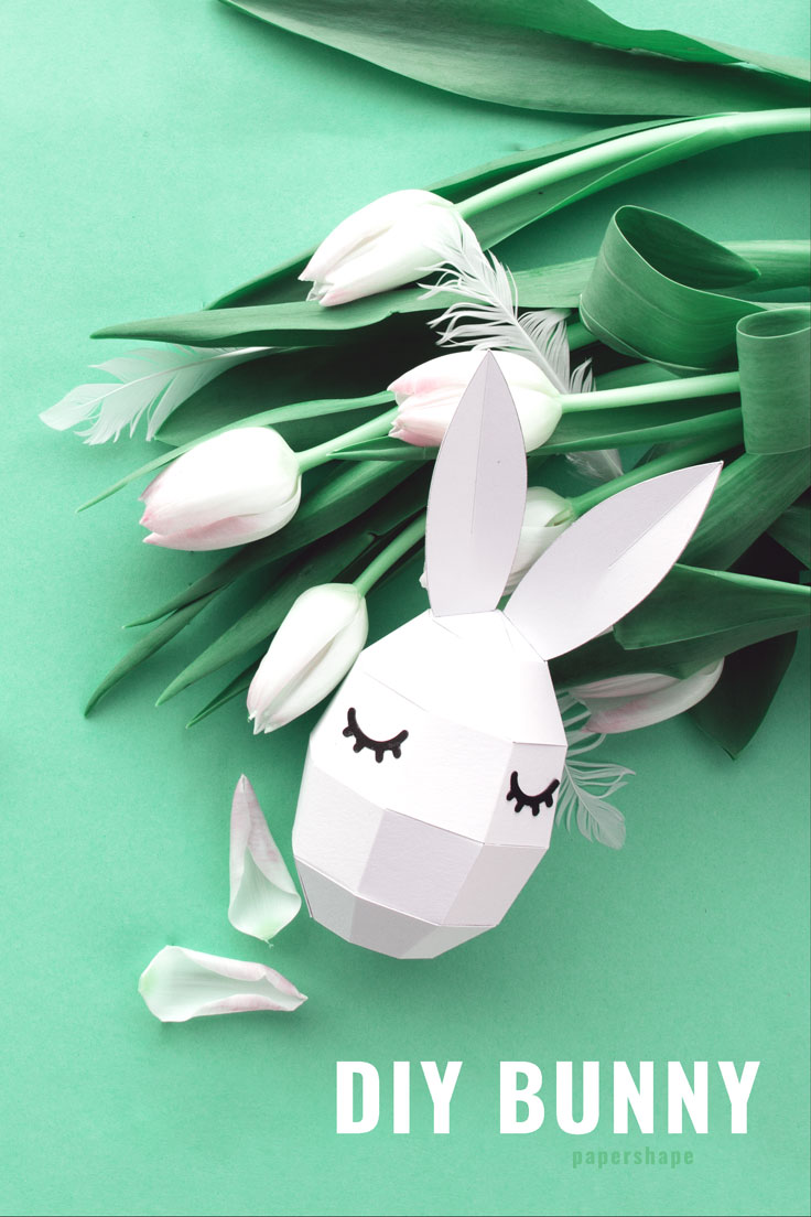 Easter egg paper craft with free template / PaperShape #eastereggs #easter #papercraft #diy