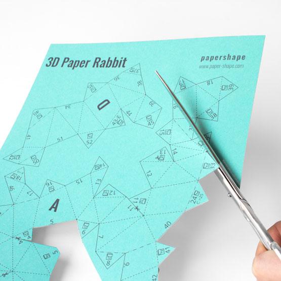 3d osterhasen basteln aus papier mit vorlage papershape. Black Bedroom Furniture Sets. Home Design Ideas