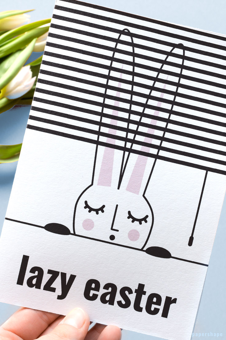Funny Easter card with free template./ PaperShape #eastergreetingcards #easter #papercraft #diy #papershape