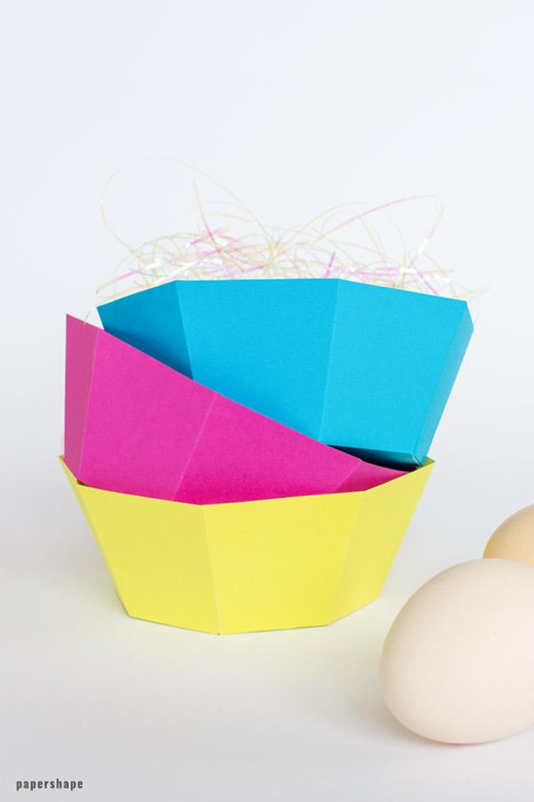 Sehr Osterkörbchen basteln aus Papier (wirklich schnell und einfach TW06