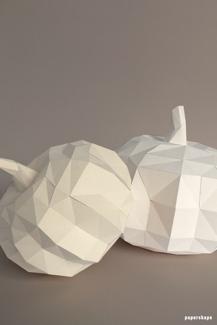 fall diy: step by step 3d paper pumpkin craft for adults