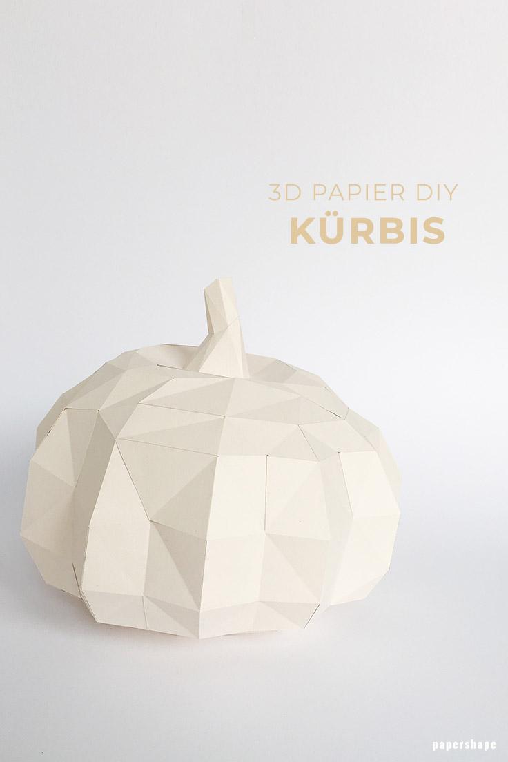 moderner diy k rbis aus papier basteln mit vorlage. Black Bedroom Furniture Sets. Home Design Ideas