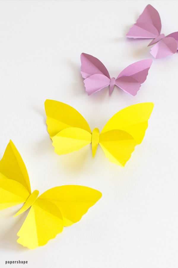 DIY butterfly crafts for adults - decorating your home #butterflies #diy #papercraft