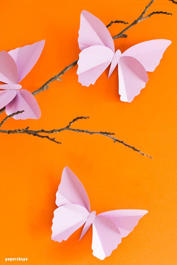 Einfache Schmetterlinge Aus Tonpapier Basteln Mit Vorlage
