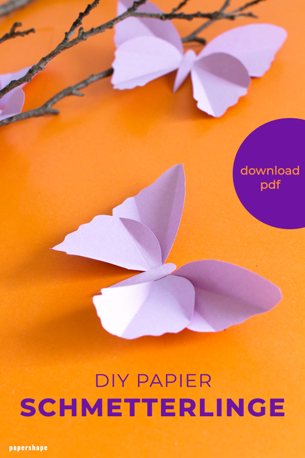 How to make paper butterfly for adults - great diy project for decorating your home for spring #papercraft #butterfly #diyspring