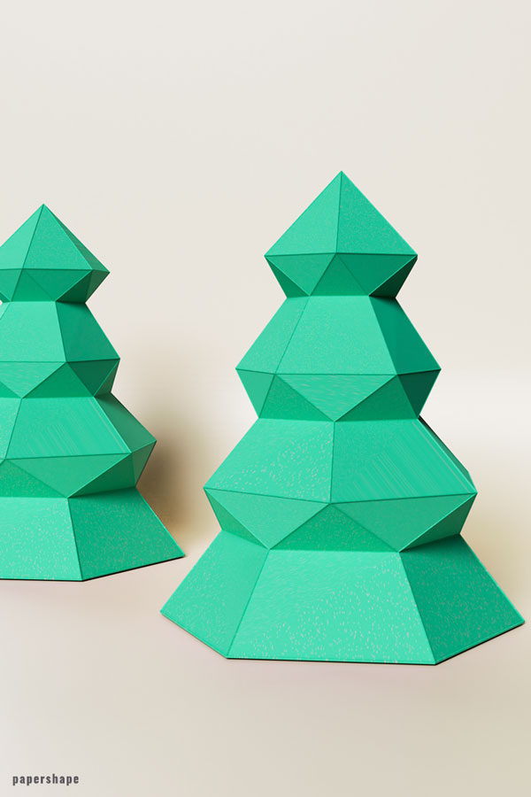 How To Make A 3d Christmas Tree From Paper