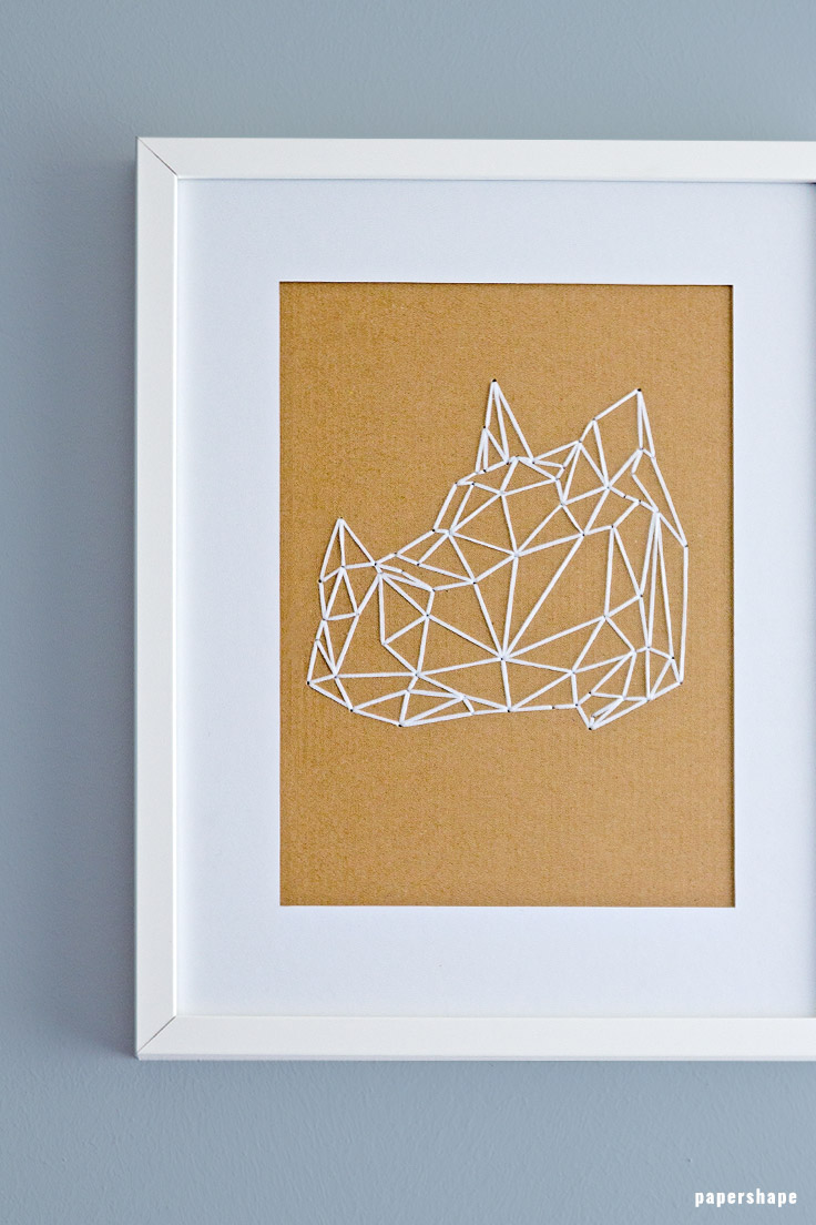 Faux taxidermy from paper papershape how to embroider geometric animals on cardboard with templates maxwellsz