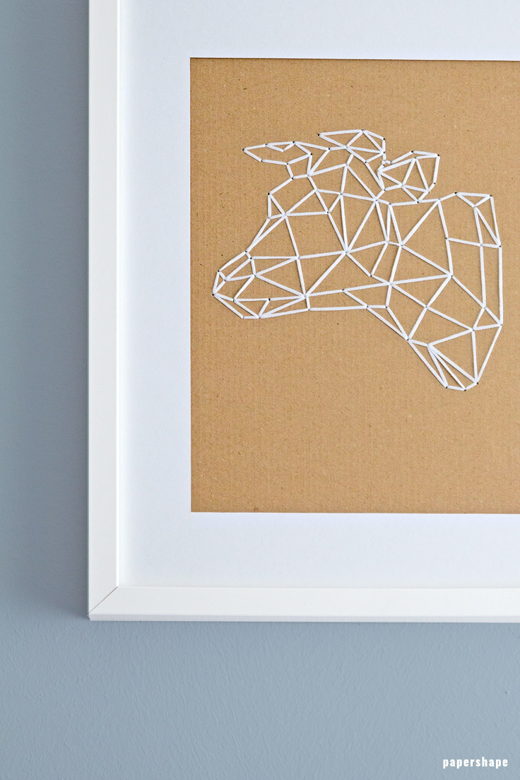 How to embroider geometric animals on cardboard (with templates) #papershpe