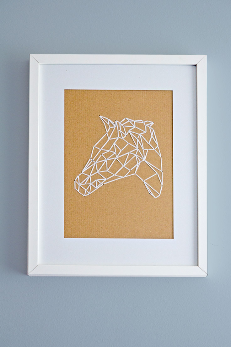 How to embroider geometric animals on cardboard (with templates) papershape