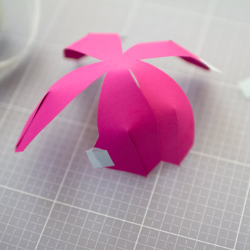 How To Make A Paper Tulip Free Template Papershape