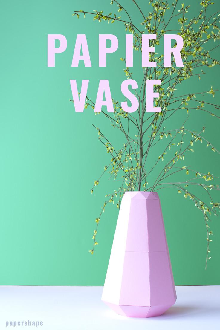 DIY Vase Aus Papier Im Origami-Look (mit Kostenloser