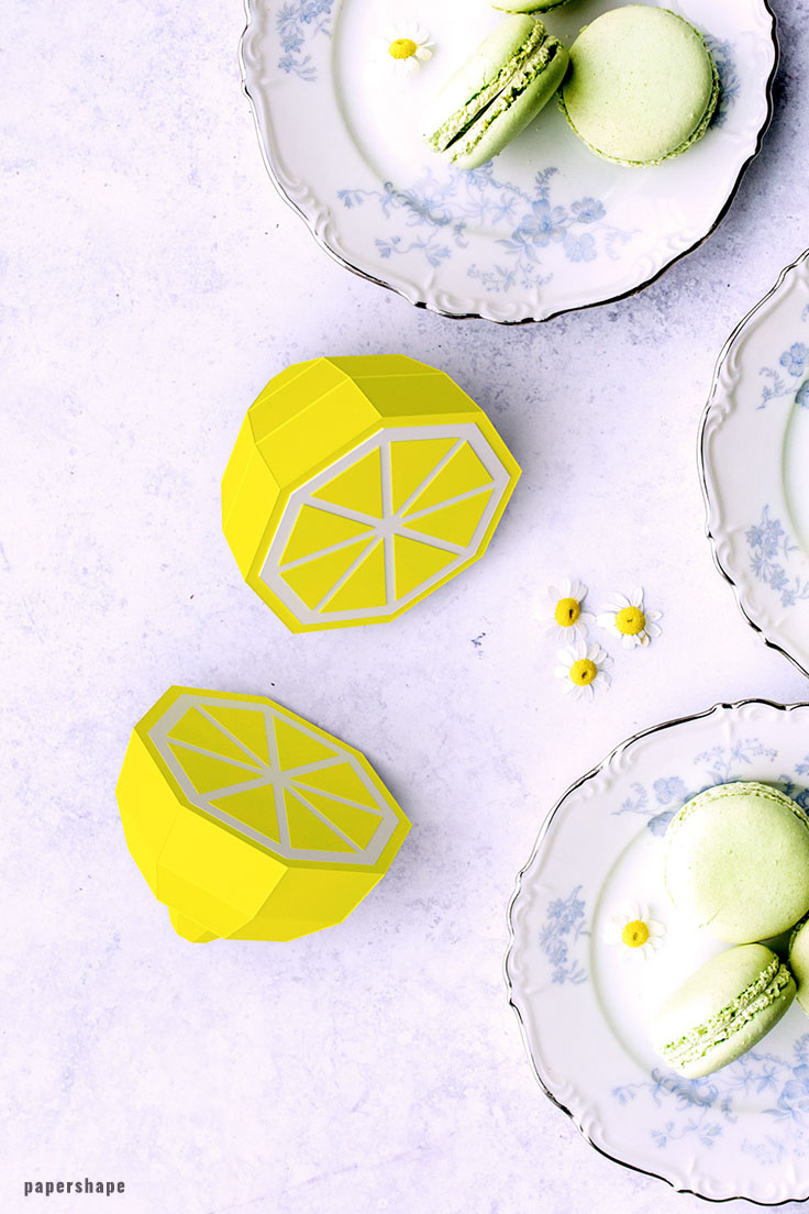 How to make lemons from paper #papercraft #diy #hochzeitsdeko