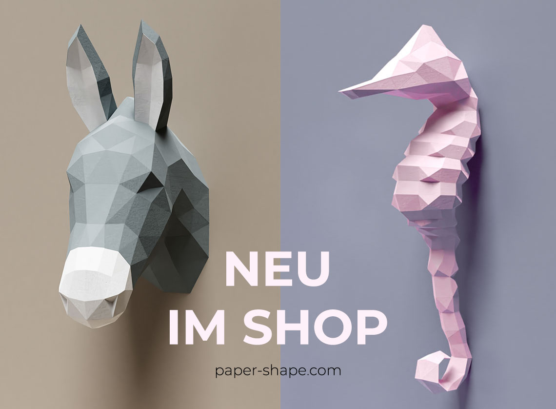 faux taxidermy papercraft donkey