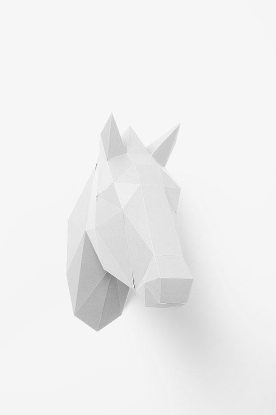 Pferdekopf 3d Papershape