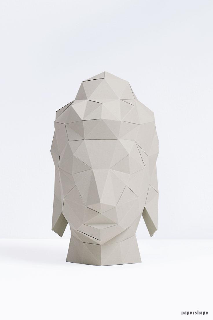 3D Bilderrahmen basteln aus Papier ganz ohne Kleben (Vorlage ...