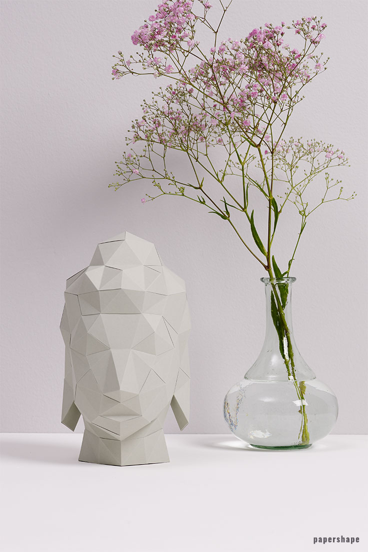 diy buddha craft from paper #papershape
