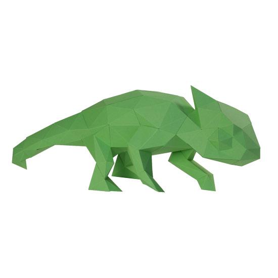 3d Chameleon Paper Sculpture DIY Papershape