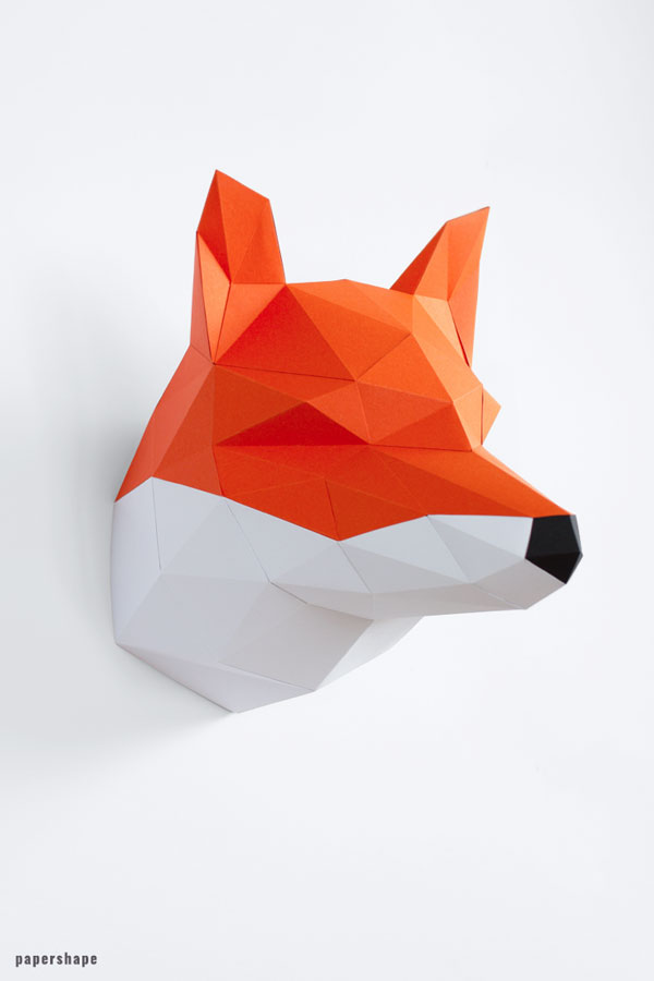 Papercraft fox wall decor #papercraft
