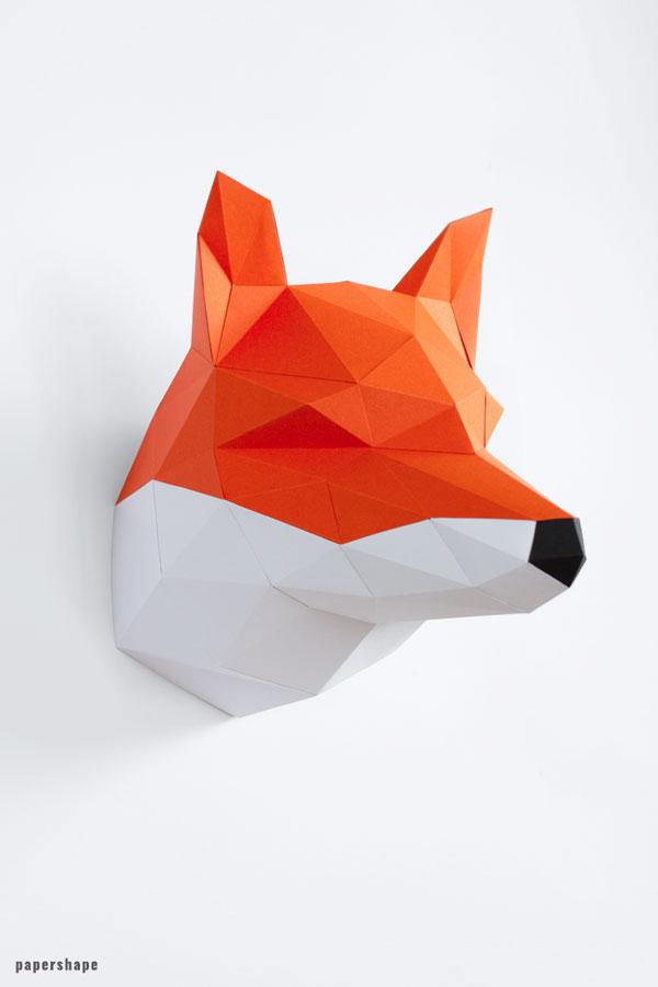 Papercraft Fox, Animal Plush, Fox Plush, Fox Toy, Fox Stuff, Fox ... | 900x600