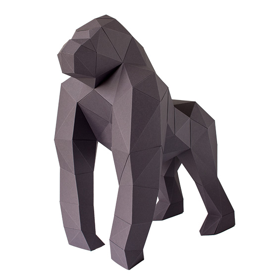 DIY: 3d paper gorilla #papershape