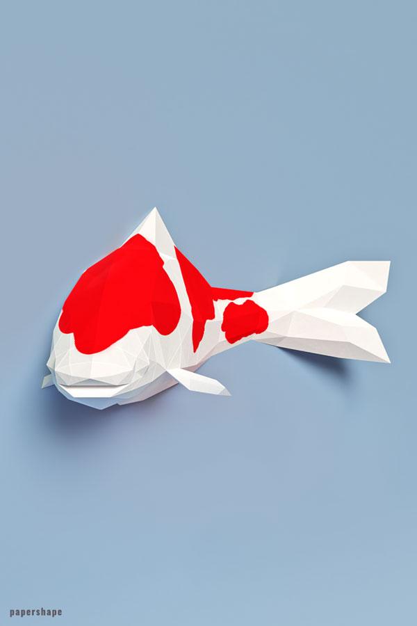 origami flower easy: origami koi fish | 900x600
