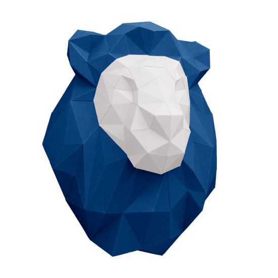 3d lion from paper as wall decor - cool lion papertrophy #papershape