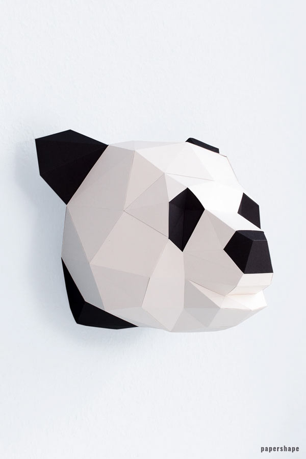 3d panda from paper - diy paper sculpture #papershape