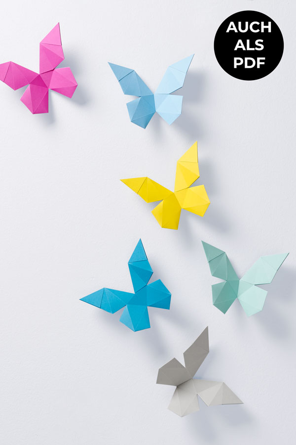 3d butterflies from paper - diy paper sculptures for your wall decor #papershape