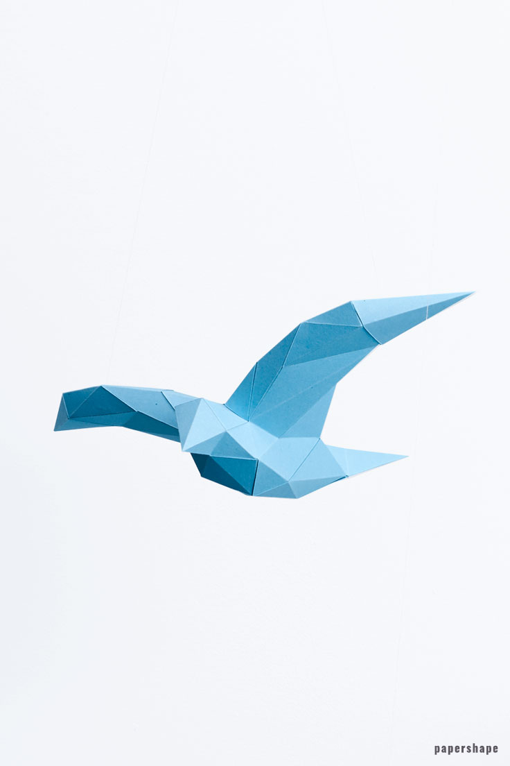 3d paper birds diy for wall decor #papershape