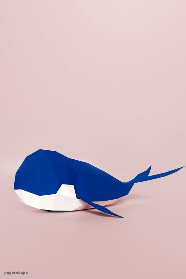 How to make a 3d paper whale #papercraft #paper #diy #paperwhale