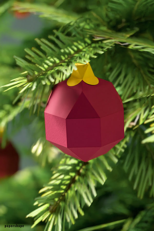 Christmas Paper Ornaments #papercraft #origami #christmasdecor #paperornaments