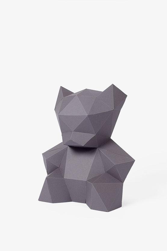 tierkopf wanddeko aus papier papershape. Black Bedroom Furniture Sets. Home Design Ideas