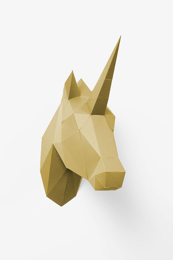 Unicorn Head Wall Mount Papershape